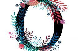 Alfabet O wydruk ilustracji