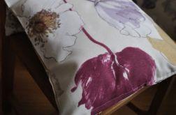 Komplet poszewek w fioletowe maki