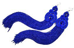 kolczyki sutasz niebieskie długie