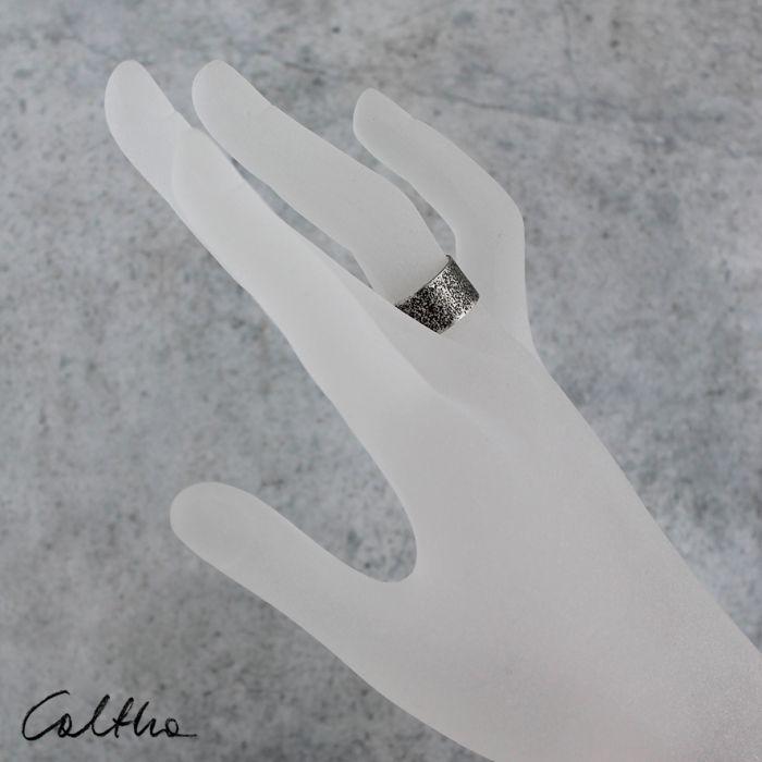 Piasek - srebrna obrączka 130620-08 - Srebrny pierścionek