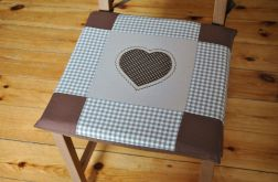 Poduszki na krzesła,siedziska- czekoladowe 4szt