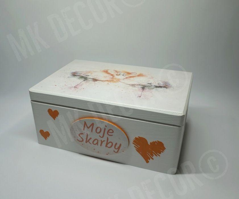 Skrzynia/kufer z wieczkiem z flamingami