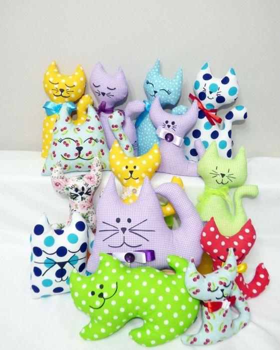 Kotek w kratkę - maskotka - kocie maskotki