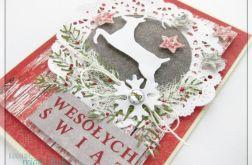Kartka świąteczna z reniferem 8