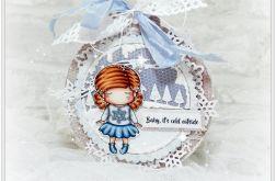 Zimowa bombka - kartka świąteczna
