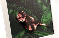 Obrazek origami na ścianę Małpa z papieru