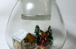 Świecznik z widokiem w środku(renifer)