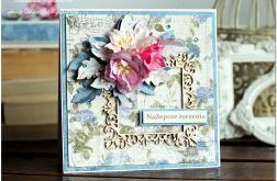 Wyjątkowa elegancka kartka w pudełku