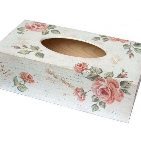 RÓŻE VINTAGE -pudełko na chusteczki