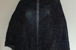 Czarna chusta z dodatkiem tęczowej nitki