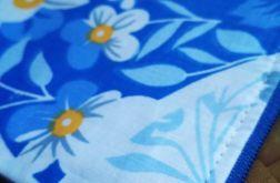 Kosmetyczka bawełniana kwiaty kwiatki