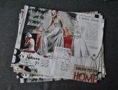 Podkładki pod talerze - prasa o modzie - 4 sztuki