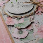 Romantyczna kartka ślubna -