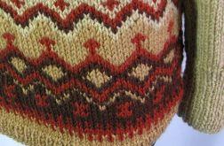 Sweter z norweskim szlaczkiem