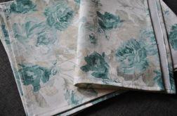 6 podkładek pod talerze - niebieskie róże