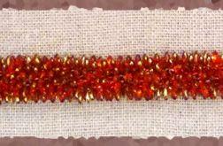 bransoletka czerwono złota