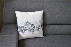 Poszewka dekoracyjna - czarne drzewa
