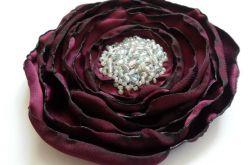 Broszka materiałowa kwiat 032