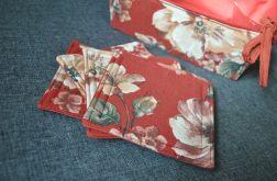 4 podkładki pod kubki - kwiaty na terakocie