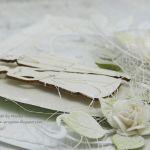 W bieli - kartka ślubna