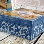 morska szkatułka- komplet (dr13)