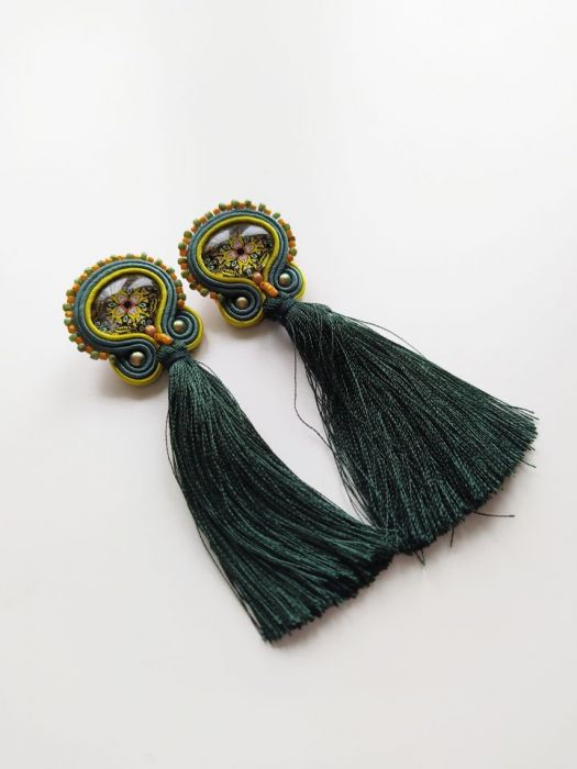 kolczyki sutasz Kolumbia etno boho