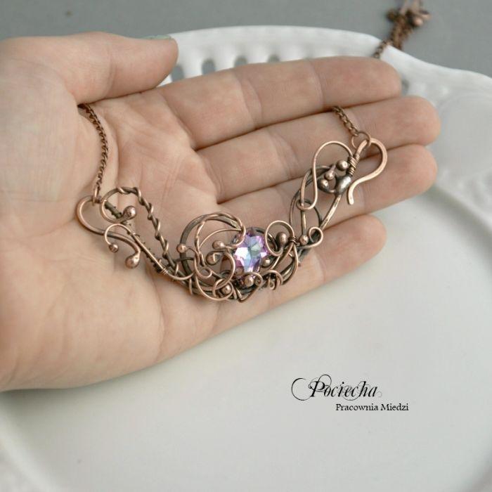 Vitrail - naszyjnik z kryształem Swarovskiego