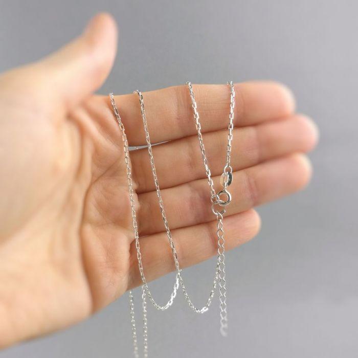 Srebrny łańcuszek, Srebro 925, 45-49cm