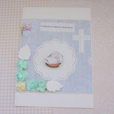 Kartka z okazji Chrztu Świętego niebieska