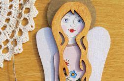 Anioł drewniany kaszubski