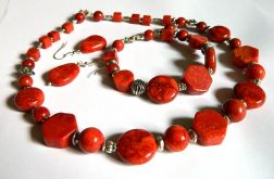 Zestaw biżuterii z korala, 3 elementy