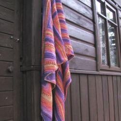 Zachód słońca - miękka chusta, ciepłe kolory