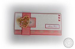 Kartka na ślub - kopertówka czerwona