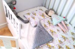 Łapacz snów/szary minky Kocyk + poduszka
