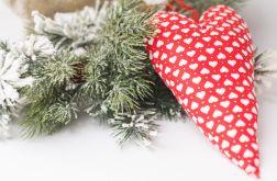 Świąteczne serce na choinkę lub stroik #3