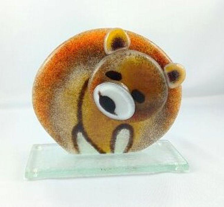 Miś / niedźwiedź ze szkła