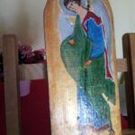 Anioł -Gabriel na desce - jedna ze stron
