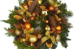 wianek Bożonarodzeniowy złoty