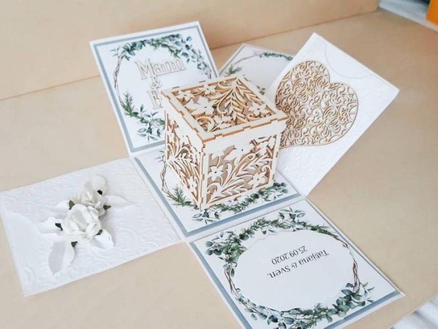 Kartki ślubne Exploding box ślubny #0005a