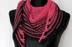 Różowa zebra chusta - szal