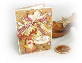 Piernikowy Renifer-kartka świąteczna