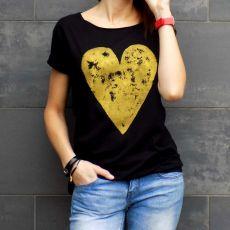 "t-shirt luźny ""ZŁOTE SERCE"""