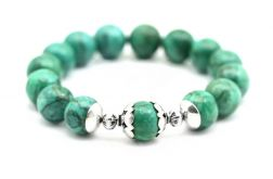 zielony turkus - bransoletka elastyczna
