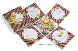 Box na ślub z tortem w ekologicznych kolorach