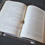 Torebka na książkę - beżowa, filcowa