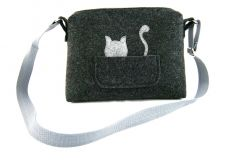 Small bag with grey cat
