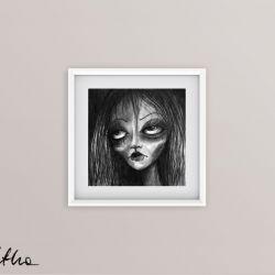 Portret - oryginalny rysunek 0605