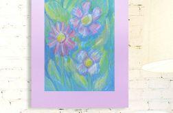 Rysunek kwiaty na fioletowym tle nr23 szkic