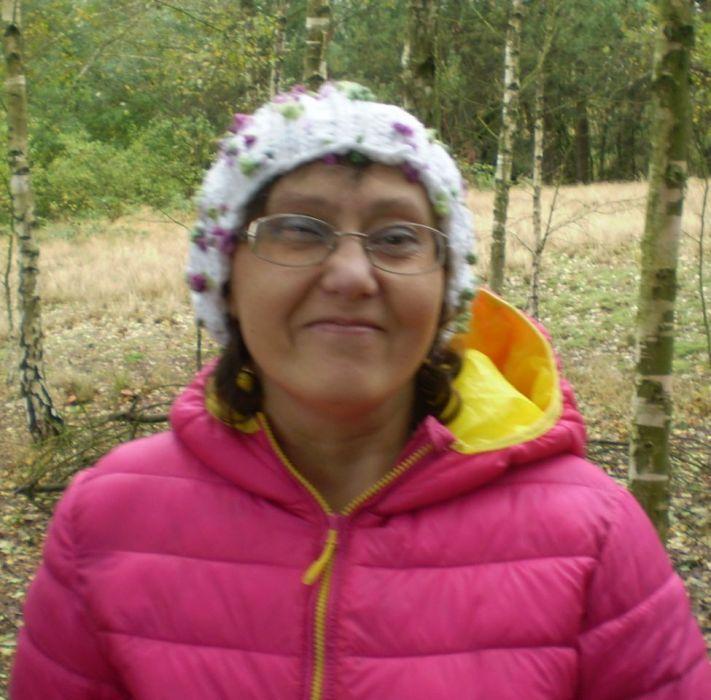 Zimowa ciepła damska czapka