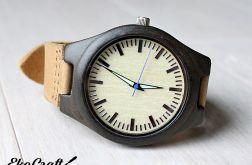 Drewniany zegarek z hebanu